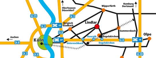 Karte Anfahrt LogoZentrum Lindlar