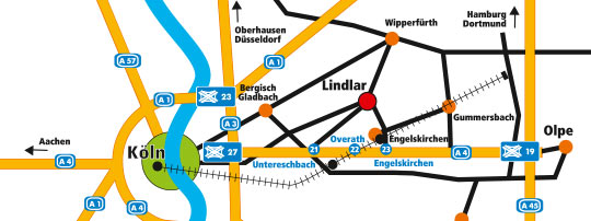 Anfahrtskizze zum LogoZentrum Lindlar