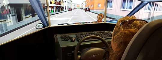 Bild Fahrsimulator im LogoZentrum Lindlar