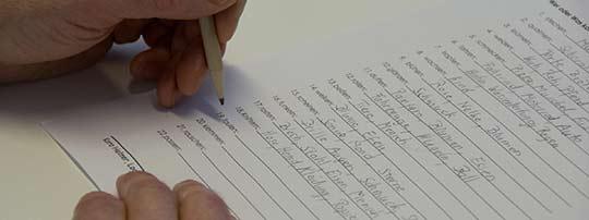 Bild von Hand Schreiben